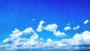 Cloudy Blue Sky Oil Painting