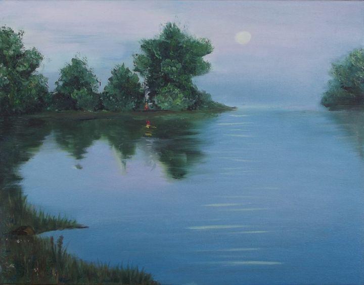 Evening bay - Zakem