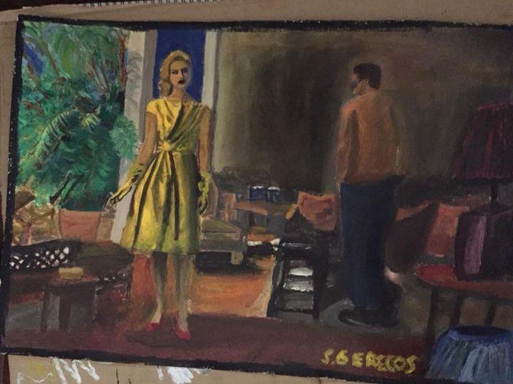 Girl in yellow dress - Spyros Gerecos