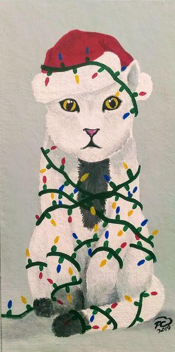 Meowwy Christmas - Palm Creations Art