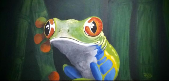 Red-Eyed tree frog - Palm Creations Art