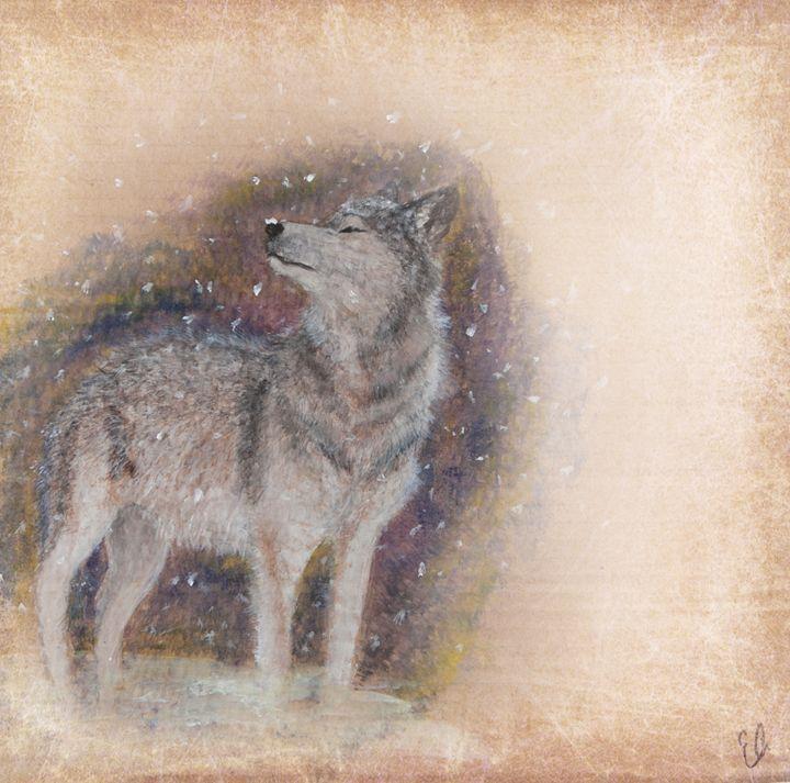 Winter Wolf - Emma's Art