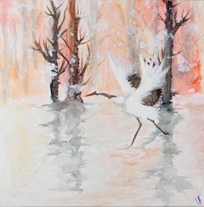 Winter Crane