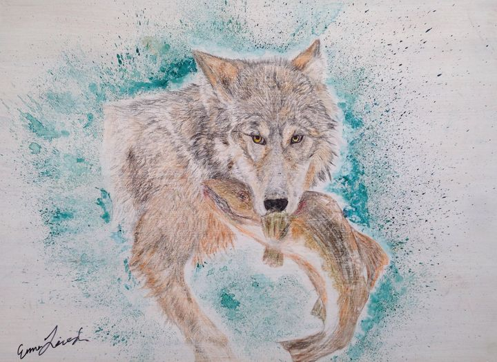 Coastal Wolf - Emma's Art