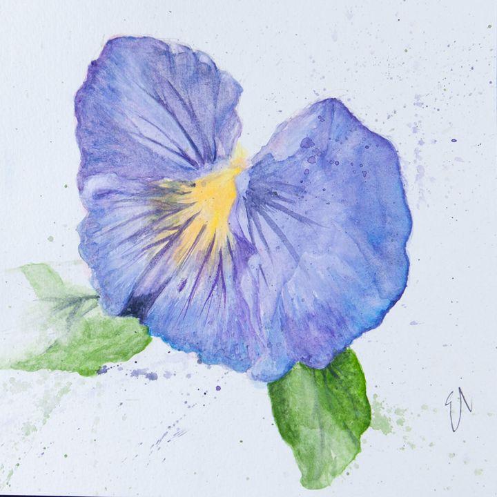 Pretty Purple Pansy - Emma's Art