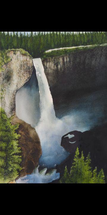 Waterfalls - Blooming flower