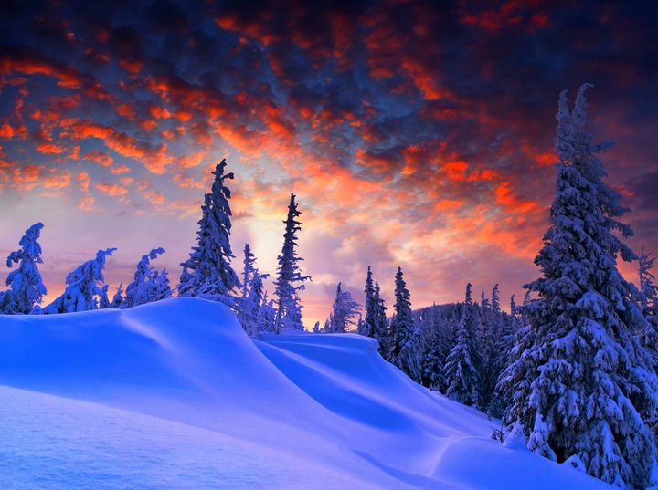 Red winter sky - New View