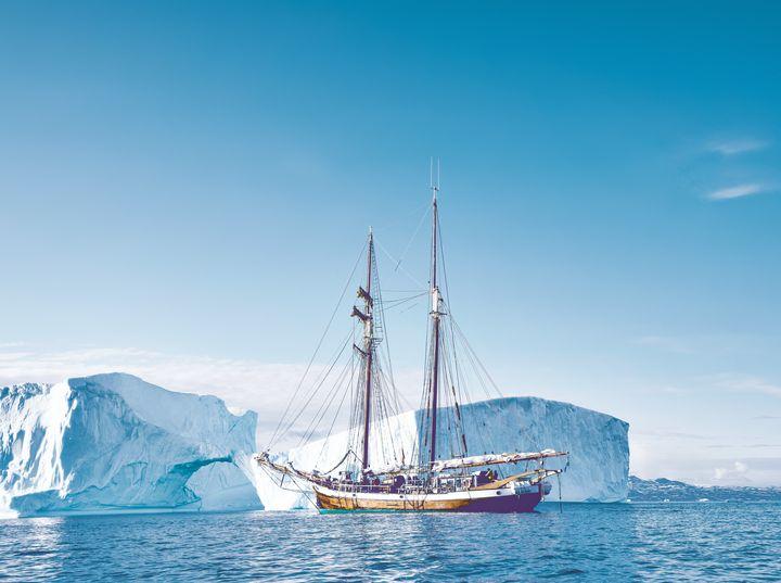 Sailing ship near Greenland - New View