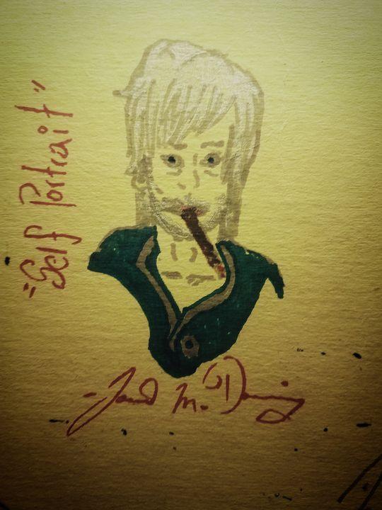 """Self Portrait"" [Caricature] - J.M. Downing"