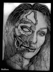 The two sides of me ❤️ (pointillism)