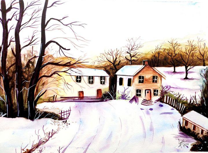 Watercolor landscape - Inksandtones