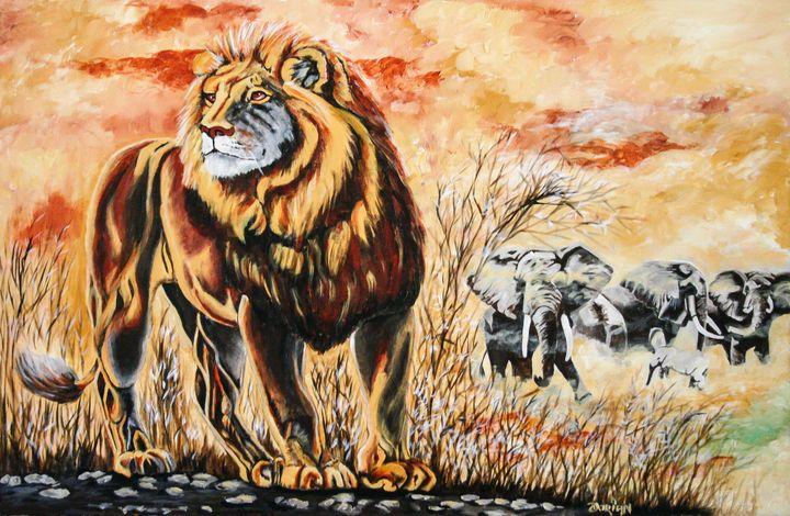 Lion and Jungle fire - Dorian De Kock