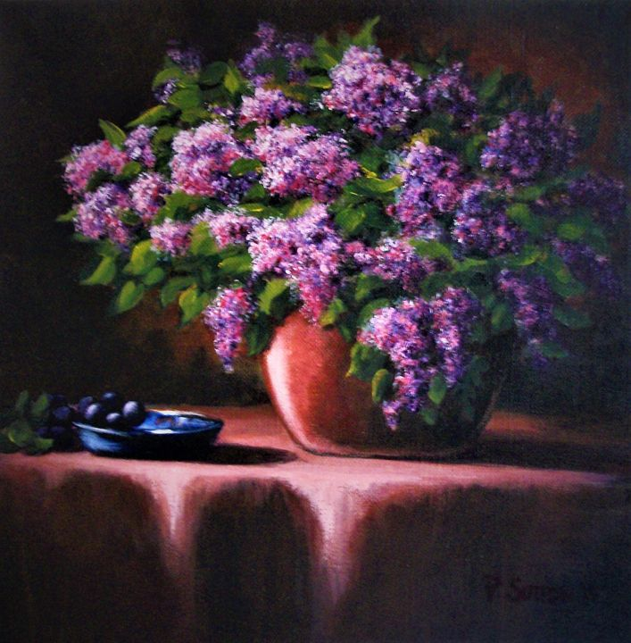 LILACS AND GRAPES - PamSutton