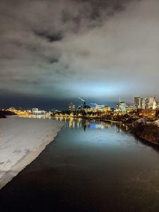 South Saskatchewan river at night