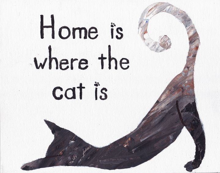 Stretching cat at home - EmmaKay's Creations