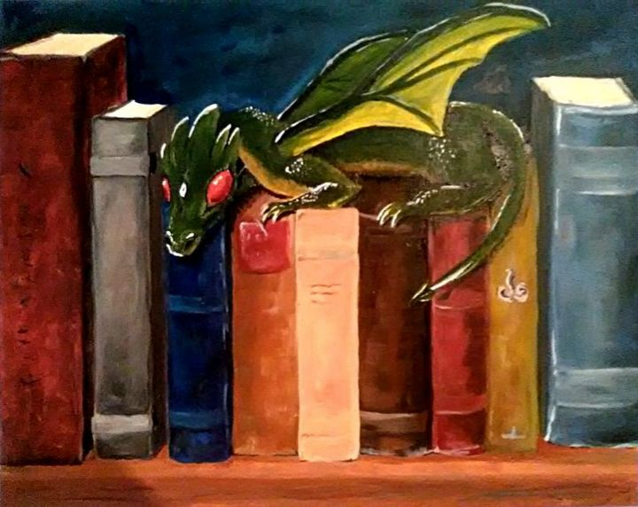 Book dragon with his hoard - EmmaKay's Creations
