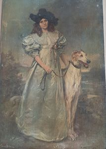 The queen and her Borzoi