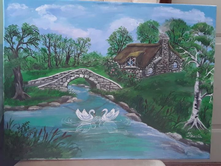Cottage by the River - Ismeta's Gallery