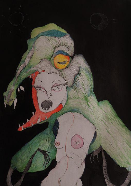 Girl in crocodile skin - daytrini