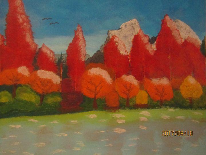 Trees in the Fall - RMar Art
