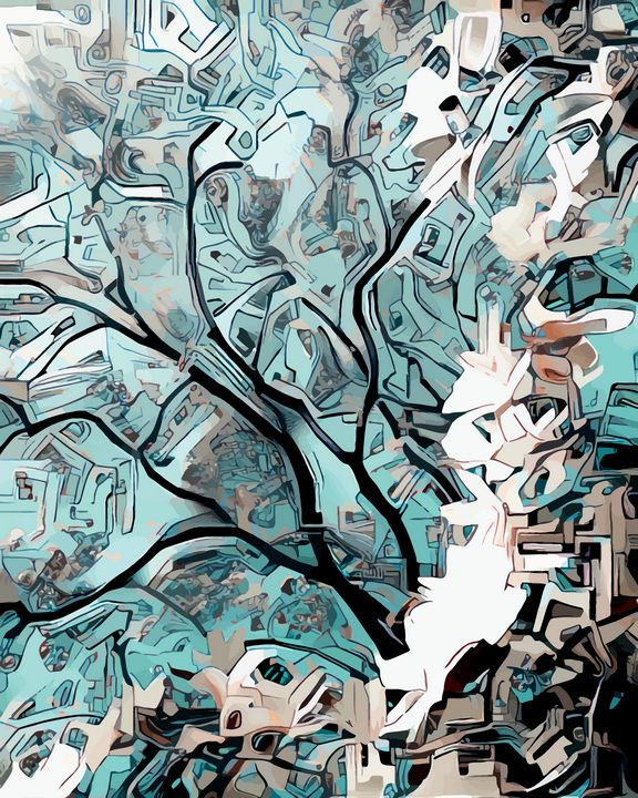 Technology Tree Blossoms - Wilhelm Gott's Art Gallery