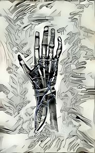 Anatomical hand of Robot