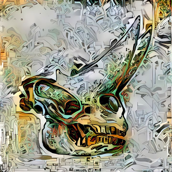 Dinosaur Skull 34 - Wilhelm Gott's Art Gallery