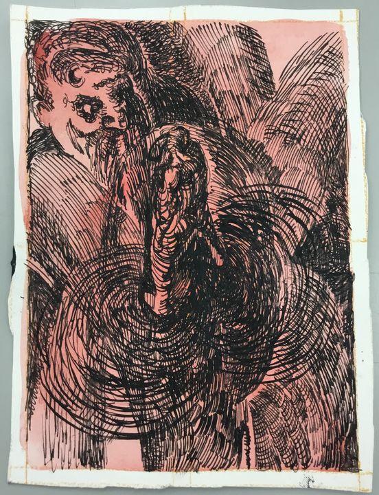 God and Adam - Michael McJilton Art Studio