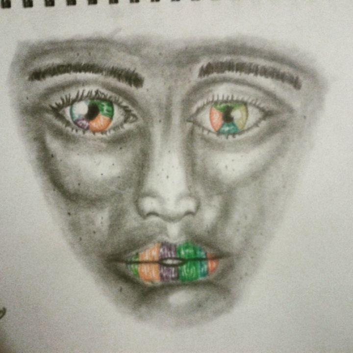 Boy with the rainbow eyes and lips - Elegantarts