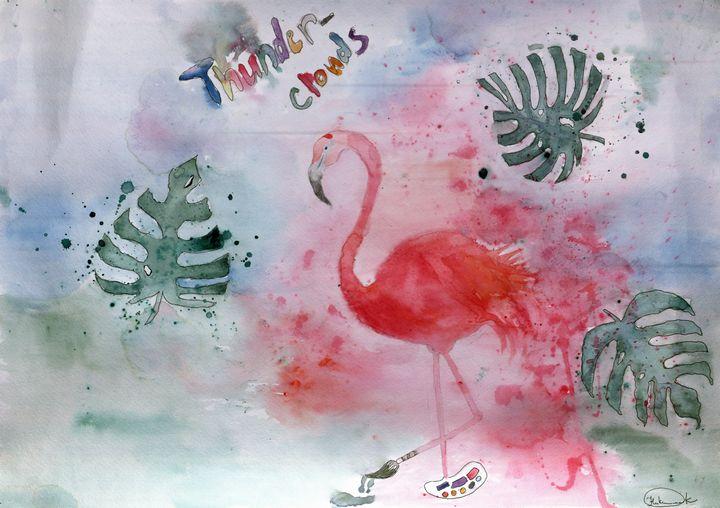 Flamingo the Greatest - Aqua Colour