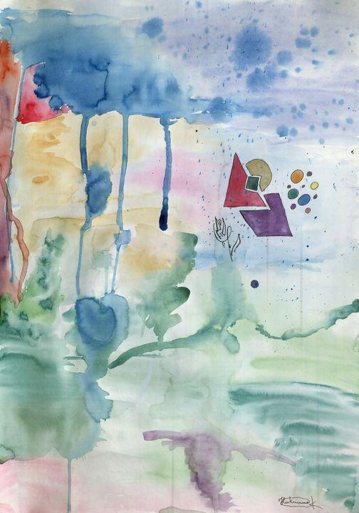 Field Thunderstorm - Aqua Colour