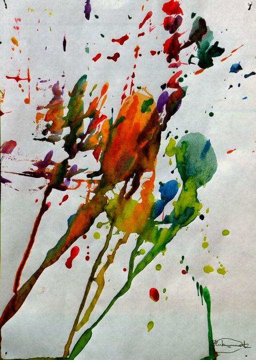 Autumn Spittle - Aqua Colour
