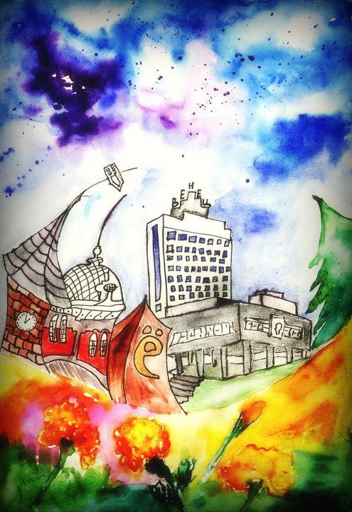 Unforgotten Town - Aqua Colour