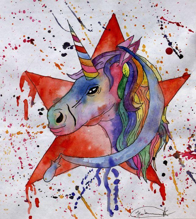 Young Unicorn - Aqua Colour