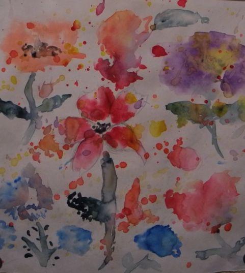 Flowers - Aqua Colour