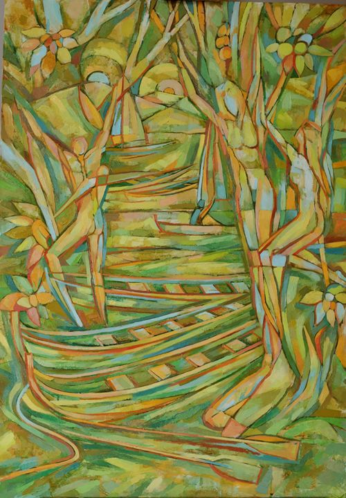 Fruit collecting - Ivo's paintings