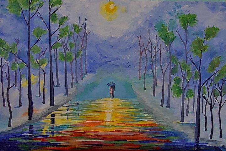the rainy boulevard of wind & trees - Heather Van Doorn