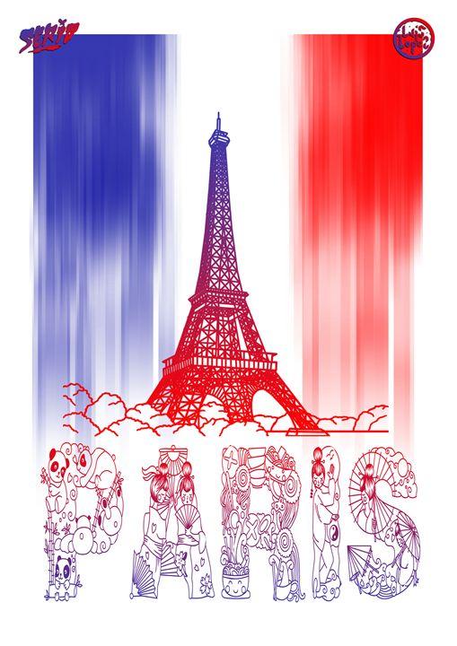 """""""PARIS"""" 297x420 mm. Two Colors A3 - Luis"""