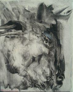 Farm Animals-Bull's portrait a