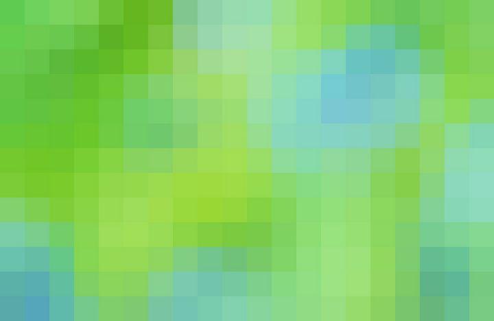 Green and Blue Pixels - PuzbieArts