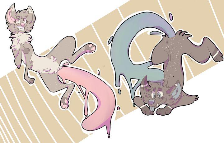 Original Character Design -2 animals - PuzbieArts