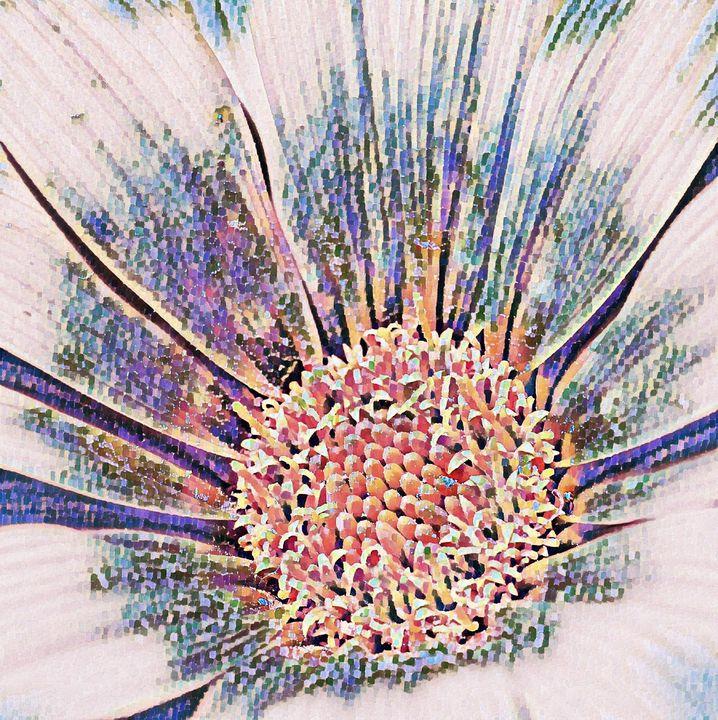 Gazania Flower Abstract Digital - PuzbieArts
