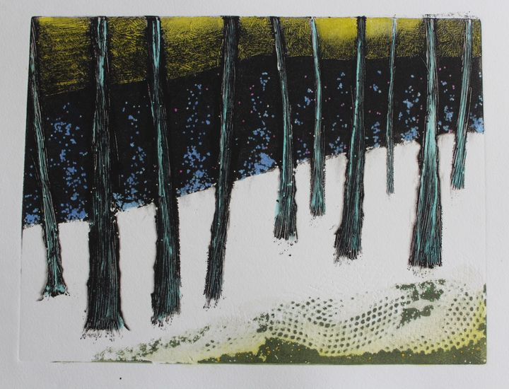 trees in snow - nick wenderoth