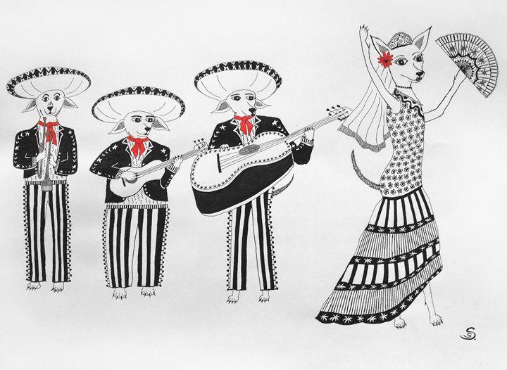 Chihuahua Mariachis - Sherise Seven Art