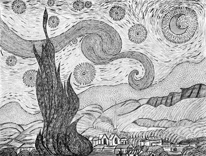 Starry Night - Sherise Seven Art