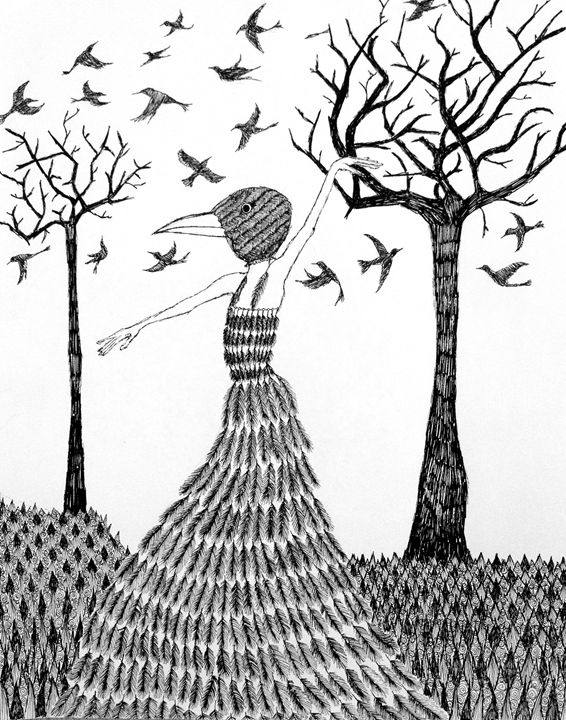 Wild Birds Flock to Me - Sherise Seven Art