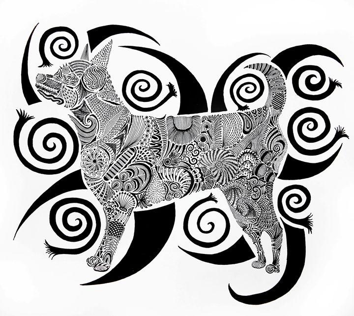 Dog Zen - Sherise Seven Art
