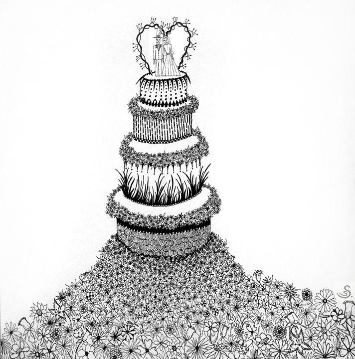 Wedding Cake - Sherise Seven Art