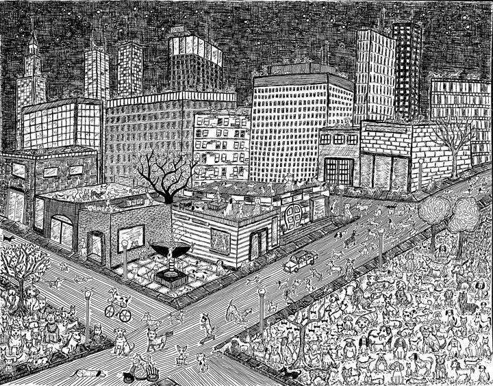 City Dogs - Sherise Seven Art