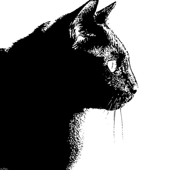 Black Cat - Three Cat Designs
